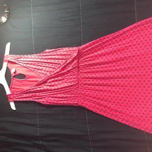 Printed Pink Dress